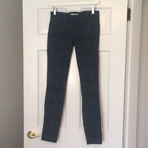 Rich & Skinny Printed jeans sz 26 blue and black
